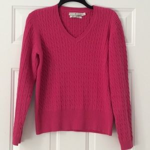 Tommy Hilfiger Cable Knit Pink Sweater L